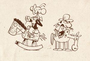 Frivole debuutstrips Peter de Wit gebundeld in kleurrijk koffietafelboek